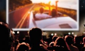 Kayseri'de açık hava sinema keyfi